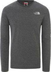 Grijze The North Face L/S Easy Tee Shirt Heren - Tnf Medium Grey Heather - Maat XS