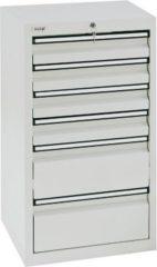 Stumpf Metall Stumpf® STS 410 Schubladenschrank mit 6 Schubladen, lichtgrau - 90 x 50 x 50 cm