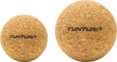 Tunturi massageballen 6,5 cm kurk bruin 2 stuks