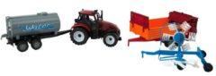 ARO toys Tractorset frictie met 3 aanhangers 37cm