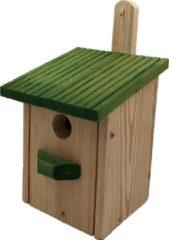 Garden Spirit - Nestkast Vogelhuisje Boswachtershutje Koolmees - Hout - Naturel Groen - Vogels