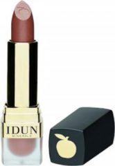 Roze Idun Minerals Lippen - Crème Lippenstift Stina - Bruin - Glazend
