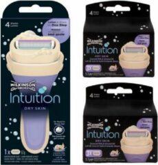 Wilkinson Sword Wilkinson Intuition Dry Skin Coconut & Almond - Complete set met Houder & 2 x 3 navullingen