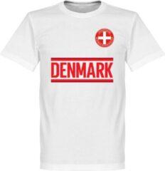 Retake Denemarken Team T-Shirt - Wit - XXXL