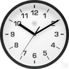 NeXtime NX-7321ZW Wandklok NXT Diameter 20cm Kunststof Zwart, Witte Wijzerplaat