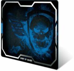Spirit of Gamer Smokey Skull Zwart, Blauw Game-muismat