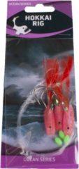 Eurocatch Fishing Raven Hokkai Rig Luminous Red 3-Hooks