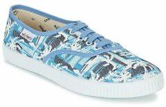 Blauwe Lage Sneakers Victoria INGLES PALMERAS