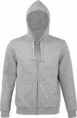 SOLS Heren Spike Full Zip Hooded Sweatshirt (Grijze Mergel)