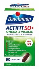 Davitamon Actifit 50+ Omega-3 Visolie Voedingssupplement - 90 capsules