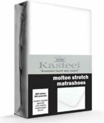 Witte Kasteel Molton Hoeslaken 140x200 Met 30cm Hoek