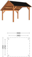 Van Kooten Tuin en Buitenleven Kapschuur de Deel 400x340 cm