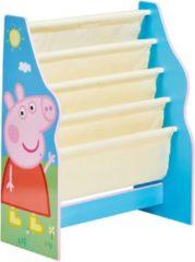 Peppa Pig Pegga Kinderboekenkast blauw 51x23x60 cm WORL213012