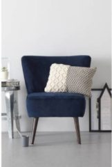 Donkerblauwe Whkmp's own fauteuil Coco velours