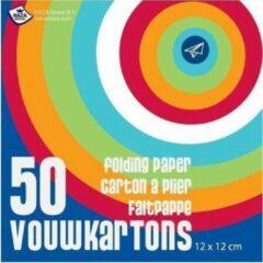 Rode Merkloos / Sans marque Vouwblaadjes 50 stuks 12 x 12 - knutselspullen - decoratie - hobby - pakket - knutsel - versiering - maken - cadeau