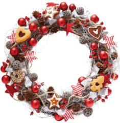 Dekokranz Weihnachtsbäckerei, Kunststoff/ Rattan, Durchmesser ca. 40 cm