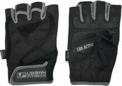 Urban Fitness Fitness-handschoenen Katoen Zwart Maat M
