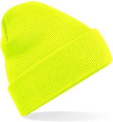 Gele Beechfield Original Cuffed Beanie Fluorescent Yellow