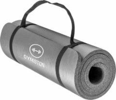 Gymston Fitnessmat Inclusief draagtas en extra draagriem - 183 cm x 61 cm x 1.5 cm - Grijs