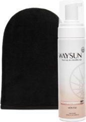 Waysun® - Natural Bronzer Mousse - Tanning Mitt - Zelfbruiner - Licht - Zelfbruiner gezicht - Mousse - Zelfbruiner spray - Vegan - Zelfbruiners - Zelfbruiner mousse - Huidverzorging - Scrub - Verzorgingsproducten - Verzorgingsproducten dames geschenk