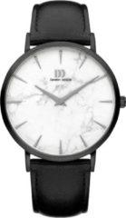 Zwarte Danish Design watches unisexhorloge Shanghai Black White Marble Black Large IQ52Q1217