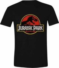 Zwarte Jurassic Park Classic Logo Jurassic Park Heren T-shirt Maat XL