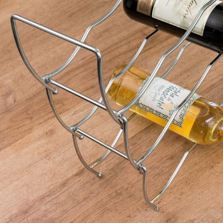 Afbeelding van Roestvrijstalen Excellent Houseware Wijnrek Stapelbaar - 3 delig - voor 12 flessen