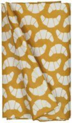 HEMA Tafelzeil 140x240 Polyester - Croissants Oker/wit (okergeel)