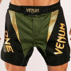 VENUM X ONE FC Fightshort Khaki Goud L - Jeansmaat 34/35