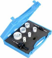 Zilveren Merkloos / Sans marque HSS 9 delige Gatenzaag Hole Saw set gereedschap box 18, 20, 25, 32, 40, en 51mm Bimetalen carbon steel