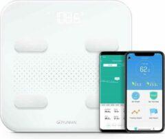 Witte Yunmai S Slimme weegschaal met Bluetooth en 10 lichaamsmetingen - Werkt met Apple Health & Google Fit - Smart Fitness Scale