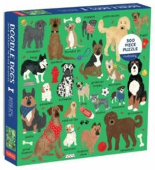 Galison Doodle dog and other mixed breeds 500 piece family puzzle