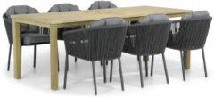 Antraciet-grijze Santika Furniture Santika Novita/Weston 210 cm dining tuinset 7-delig