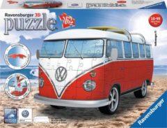 Witte Ravensburger Volkswagen bus T1 bulli - 3D puzzel - 162 stukjes