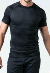 Zwarte Reeva compressie sportshirt - S (men) (reflective)