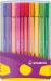 Blauwe STABILO Pen 68 Colorparade - Paars/Geel Etui - 20 Stuks