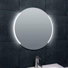 Douche Concurrent Badkamerspiegel Wiesbaden Round 60x60cm Geintegreerde LED Verlichting Verwarming Anti Condens Touch Lichtschakelaar Dimbaar