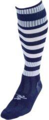 Marineblauwe Precision Voetbalsokken Hooped Junior Donkerblauw/wit Mt 30-34