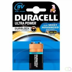 Blauwe Duracell Ultra Power 9V alkaline batterijen - 1 stuk