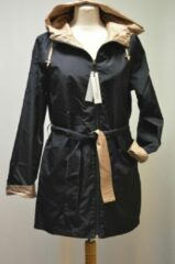 Marineblauwe Merkloos / Sans marque C&D casual wear Dames regenjas OMKEERBAAR - BILBAO Navy/Gold maat 46