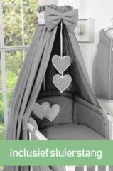 Antraciet-grijze My Sweet Baby Hemel - Katoen Antraciet (incl Sluierstang)