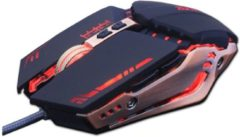DrPhone ElectronicWorks - Gaming Muis Verstelbaar 3200 DPI - 6 Knoppen Optische hoogwaardige USB Wired Game Muis - Zwart/Goud