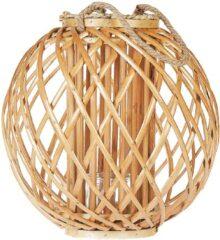 Beliani SAMOA - Lantaarn - Lichte houtkleur - Wilgenhout