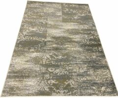 Beige Aledin Carpets Nukus - Vintage Vloerkleed 160x230 cm - laagpolig - Tapijten woonkamer - Groen