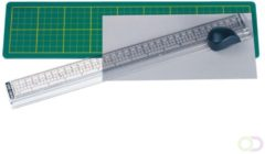 Snijmat Alco met mes en liniaal 380x100mm groen