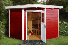 Rode WEKA | Tuinhuis 229 | 235 x 239 cm | Zweeds rood