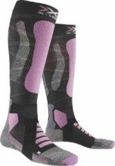 Grijze X-socks Skisokken Touring 4.0 Dames Polyamide/wol Paars Mt 35-36