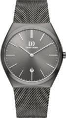 Grijze Danish Design watches edelstalen herenhorloge Tåsinge All Grey Large Mesh IQ66Q1236