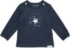 Grijze Noppies Unisex T-shirt longsleeve Lux - Dark Slate - Maat 62