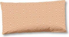 Oranje 2x Trendy Katoen/Satijn Sierkussenhoezen | 40x80 | Subtiele Glans | Luxe En Zacht